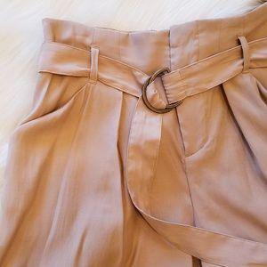 Zara Shorts - Zara | Khaki Paperbag Shorts